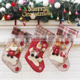 Pretty Christmas Gifts Santa Claus Snowman Elk Stocking Christmas Decoration