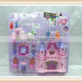 cheap plastic castle toy with furniture toy christmas toy
