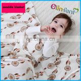 Elinfant bamboo organic baby 100% cotton muslin swaddle blanket