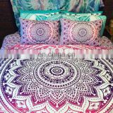 Queen Indian Ombre Mandala Duvet Cover Throw Cotton Quilt Cover Handmade Doona Covers SSTH54