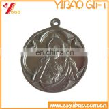 Aluminum medal with figure design