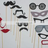 18pcs Photo Booth Props Hat Mustache On A Stick Wedding Birthday Party Fun Favor