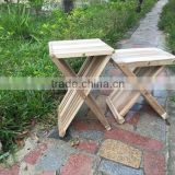 new garden outdoor folding stool - wooden foldable bar stool chair - made in vietnam products