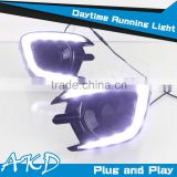 AKD Car Styling Mitsubishi Pajero DRL 2012-2014 New Pajero Led DRL LED Daytime Running Light Good Quality LED Fog lamp
