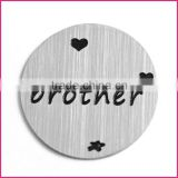 Metal Plates,Jewelry Brand Tags For Necklace & Bracelet,Floating Locket Plate Wholesale