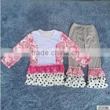 childrens autumn boutique clothing gigle moon remake outfits girl beautiful outfit with ruffles clothes and pants set