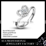 China new year design jewelry bride silver wedding ring 925 solid silver ring with aa cz stone