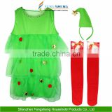 Ladies Sexy Christmas Tree Tutu + Stockings Womens Fancy Dress Outfit Costume Wholesalers