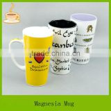 15oz tall ceramic beer mug with handle , with customized design