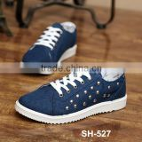 Top sale product in alibaba wholesale bulk buy men casual canvas shoes comfortable dot pattern