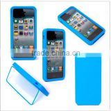 Hybird Protective PC+TPU hard Case Cover for iPhone 5 (Blue)