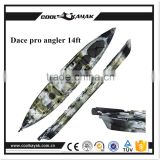 Single fishing canoe with rudder system paddle rowing kayak                                                                         Quality Choice