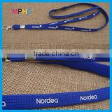 Customzied Rubberized Printing Tubular type Lanyard with back clip buckle