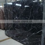 Hot Nero black cheap slab 60x60 marble tile for Interior decoration