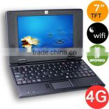 7inch VIA8850 mini Laptop netbook with android 4.1 Jelly bean web camera best Christmas gifts for kids