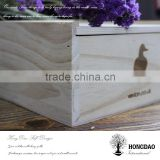 HONGDAO solid wood boxes made by natural wood veneer gift box