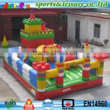 small cheap children outdoor inflatables playground equipment made in China factory