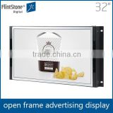 LCD panel 32 inch open frame LCD totem signage TV,touch screen HDMI open frame, electronic display touch screen board