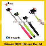 hot items 2015 telescopic blutooth selfie stick silicone handheld