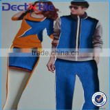 warm and comfortable CVC textile stretch knitted fabric for couple jersey couple sportswear