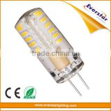 2.5W AC/DC12V,140lm,Lifetime: 40000Hr, Warranty: 2years,CE/RoHSam angle:180,Silicon LED G4 Light