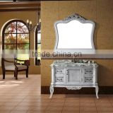 Luxury bathroom design floor standing solid wood bathroom vanity, antique bathroom vanity set, used bathroom vanity with mirror