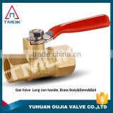 gas safety valve with forged nipple cw 617n high pressure and high quality NPT thread brass gas valve