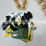 Wholesale Mardi Gras Beads Necklace Plastic Beads Promotional Bead Musician Silhouetter