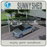 DIY carport aluminum bicycle frame and polycarbonate for car parking