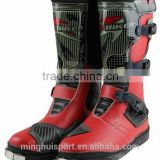 Hot style Leather Motorcycle Waterproof Boots China Motocross Racing Boots