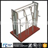 Factory quality 4 way metal wood retail clothing display rack for sale