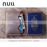 NULL DESIGN Lady hand parts magic travel rfid blocking carbon fiber lining passport wallet