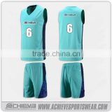 sublimation basketball singlet jersey, green basketball uniforms                                                                                                         Supplier's Choice