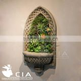 Lifelike Artificial turf grass artificial succulent plants Hanging Wall ornaments with specialplanter