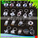 promotional metal zinc alloy led key chain custom light keyring metal flashlight keychain