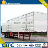 CITC Factory Direct Sale 3 Axle van type Box Trailer, Full Cargo Semi Trailer(Heavy Duty)