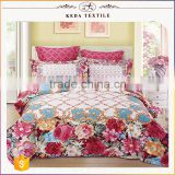 China's alibaba wholesale reactive printing king, queen, full, twin size about 200TC 100% cotton bed sheet bedding set