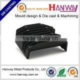 OEM china factory aluminum die casting sand blasting powder coating motorcycle automobile aluminium radiator