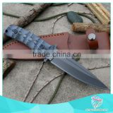 Custom Hand Made Damascus Steel utility knife                                                                         Quality Choice