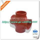 Hassle free operations guanzhou custom made & OEM casting red Cross Tee Forged Pipe Fittings