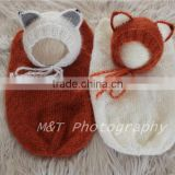 Newborn Props Fox Bonnet and Cocoon Sets Newborn Fox Sets Baby Fox Props