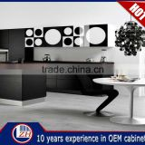 Beautiful Waterproof Black High Gloss Cheap Lacquer Kitchen Cabinets China with Top Quality