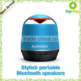 On sale round bluetooth speaker,Support all phones and all of music device with Bluetooth, RF range is more than 3-10M