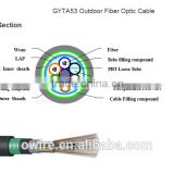 heat resistance cable GYTA53 Outdoor Fiber Optical Cable crush resistance and flexibility.
