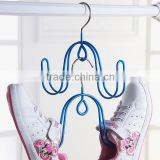 pvc plastic coated metal wire coupling shoes hanger