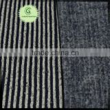 Nice black white stripe 100 polyester CD jacquard hacci coarser sweater fabric from China