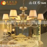 Continental Iron Cloth minimalist living room bedroom chandelier, American Pastoral LED chandelier