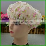 customized flora printed pvc plastic shower cap