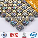 cross shape titanize Recycled Glass Mosaic hexagon mosaic tile ceramic glass mosaic tile
