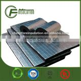 Flame retardent FSK aluminum foil NBR/PVC self adhesive backed insulation foam sheet